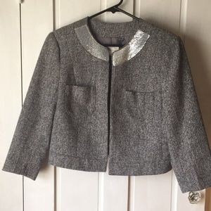 Loft Gray Cropped Jacket